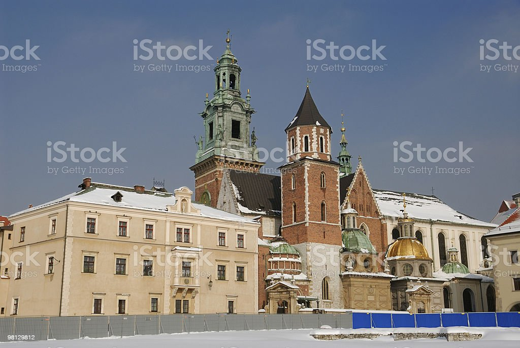 Wawel cathedral in krakow royalty-free stock photo