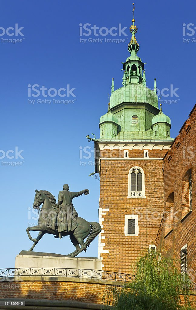 Wawel Royal Castle in Cracow, Poland stock photo