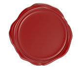 wax, red, 3d, rendering, white background
