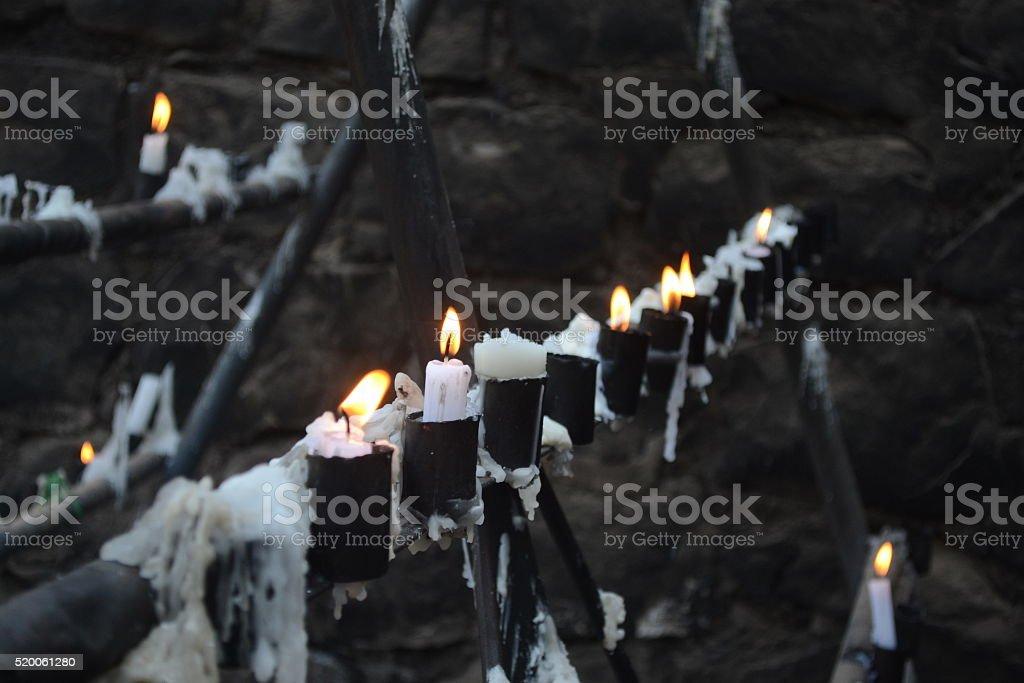 Wax candle stock photo
