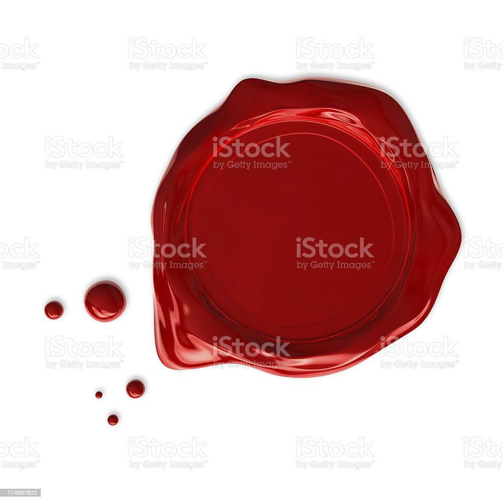 Wax Seal isolated stock photo