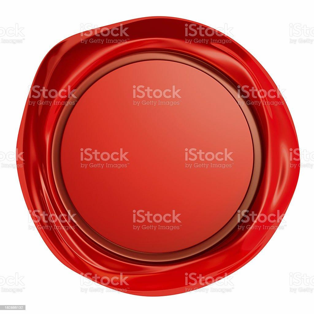 Wax Seal isolated royalty-free stock photo