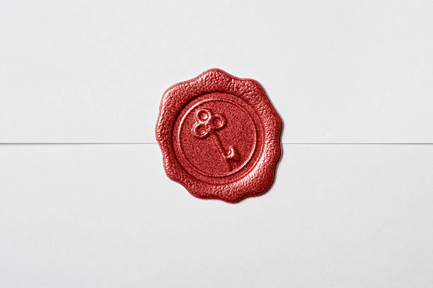 wax seal - stamper stock photos and pictures