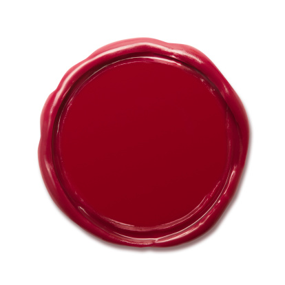 Wax Seal with Clipping Paths.
