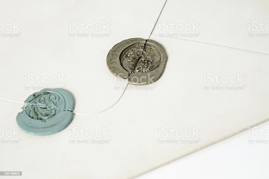 Wax Seal stock photo