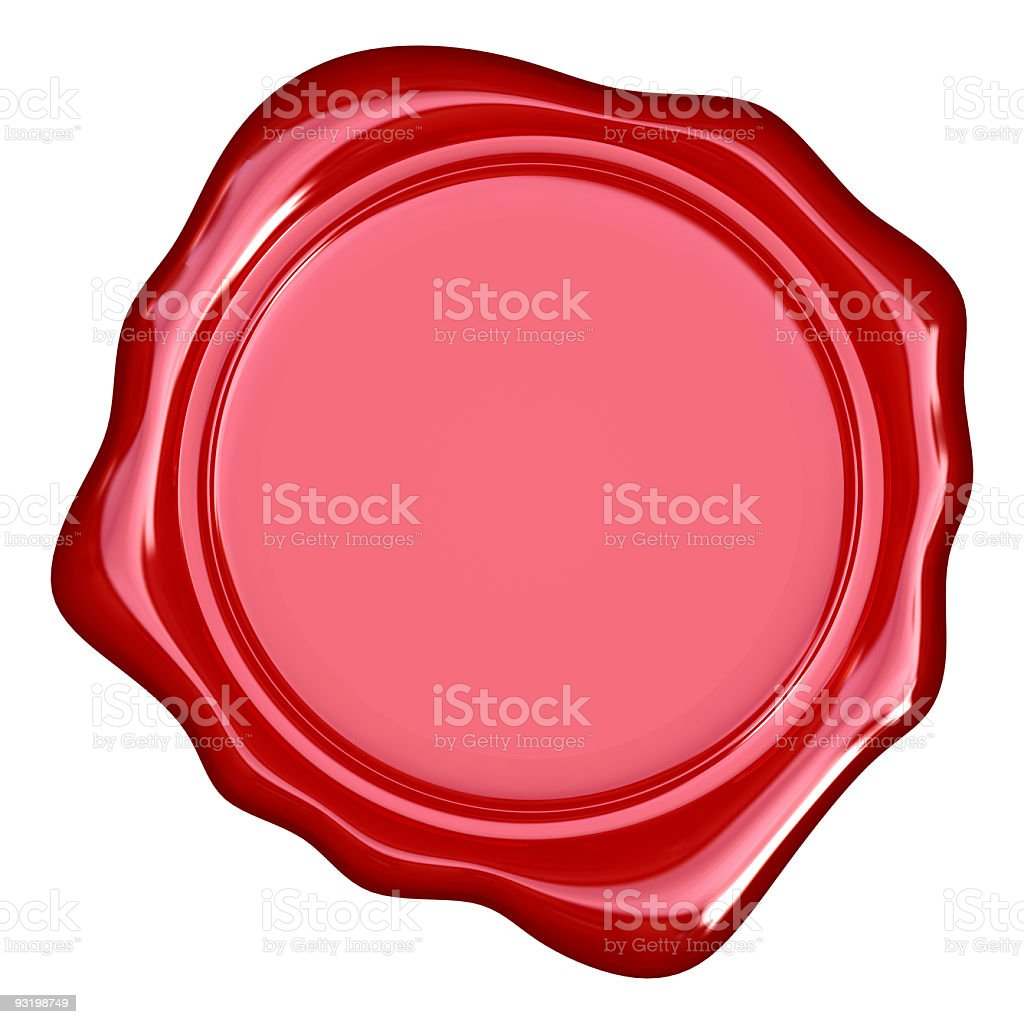 Wax seal. stock photo