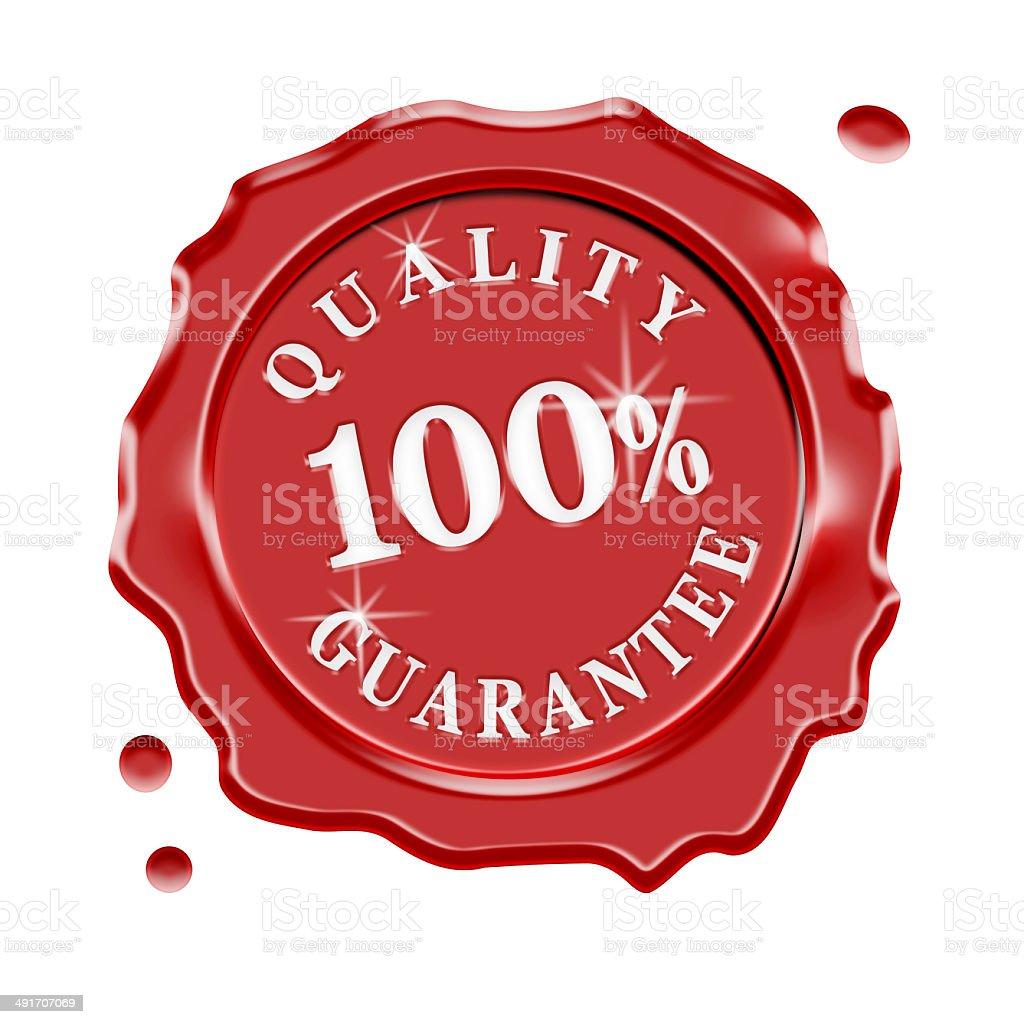 Wax Seal Quality Guarantee stock photo