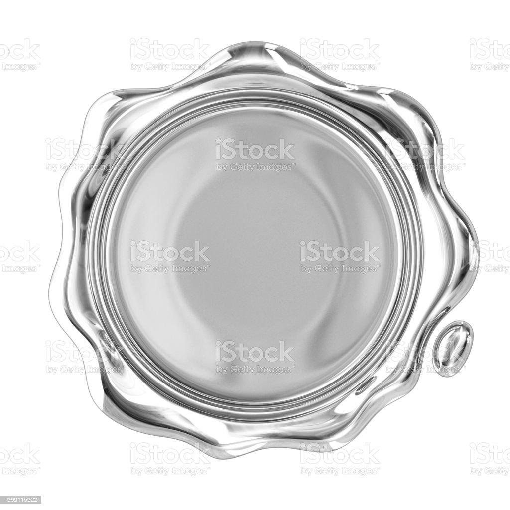 Mum mühür gümüş stok fotoğrafı