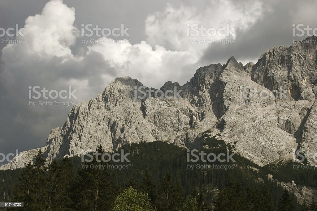 Waxensteine im Zugspitzmassiv royalty-free stock photo