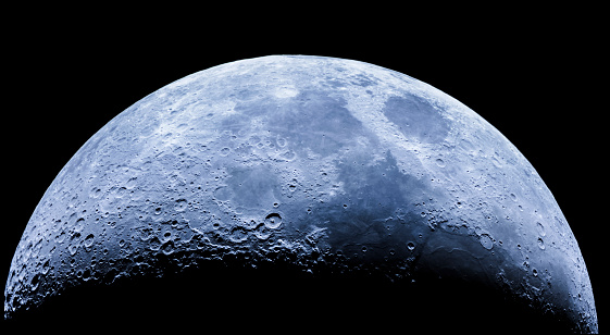 Amazing waxing crescent moon as seeing from the southern hemisphere. Amazing the moon surface full of craters from meteorites coming from the universe and crashing our satellite the Moon. For recording the video an 80mm APO refractor has been used.