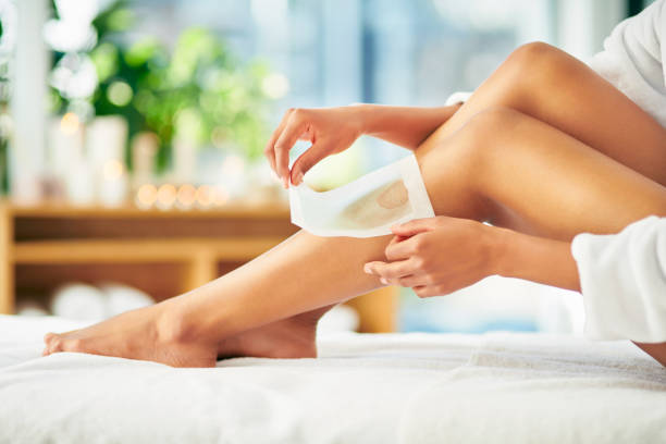 Waxing keeps it smoother for longer stock photo