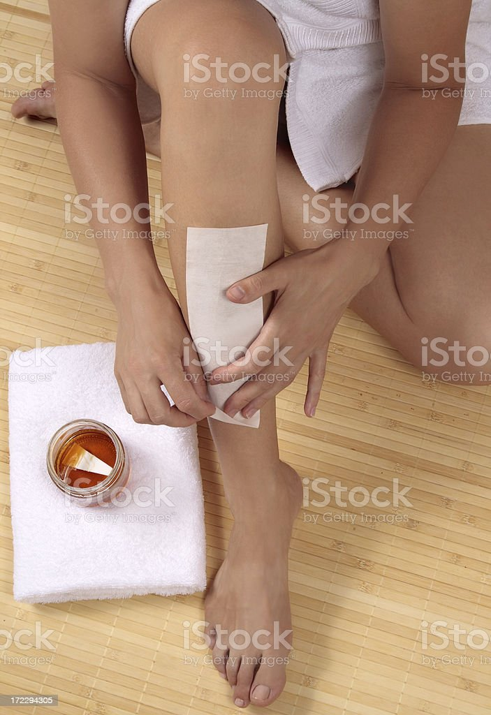 Waxing royalty-free stock photo