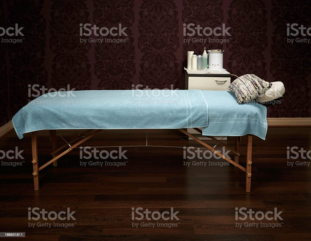Waxing table royalty-free stock photo