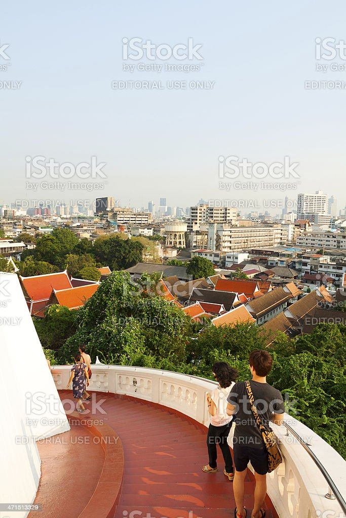 Way down over Bangkok royalty-free stock photo