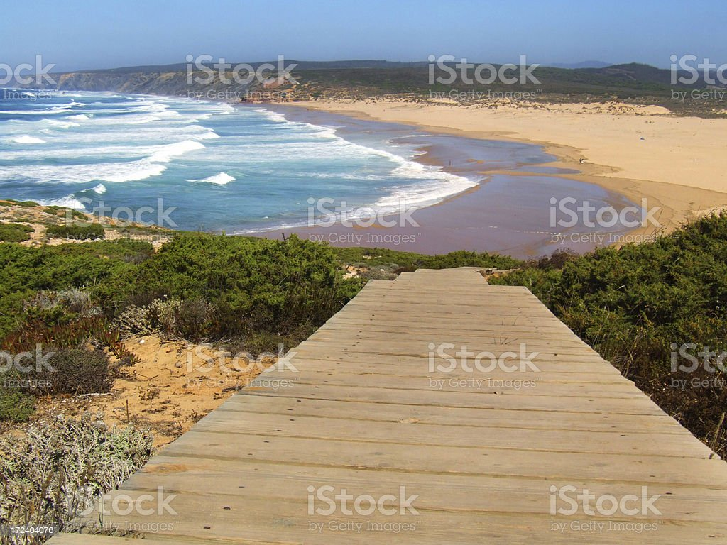 Way down to the Atlantic royalty-free stock photo