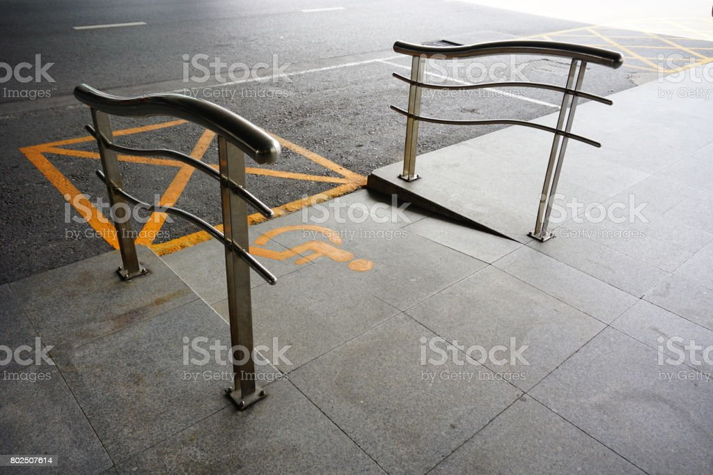 Way for Wheelchair ramp stock photo