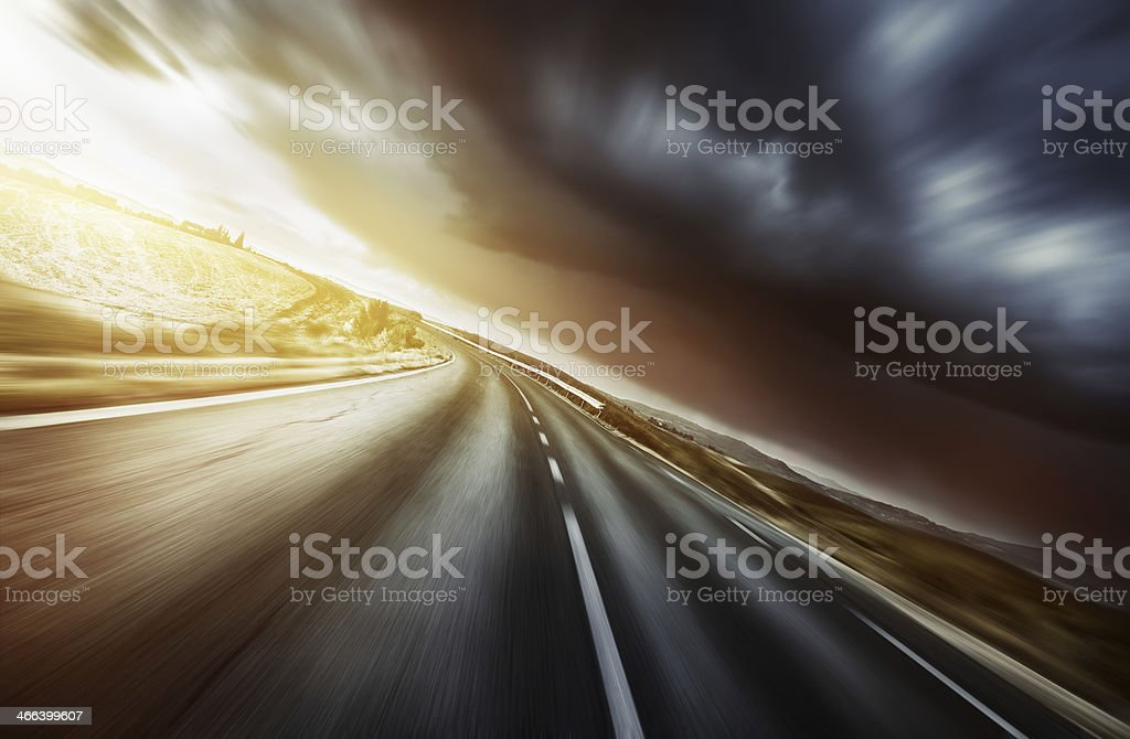 Way forward in motion stock photo