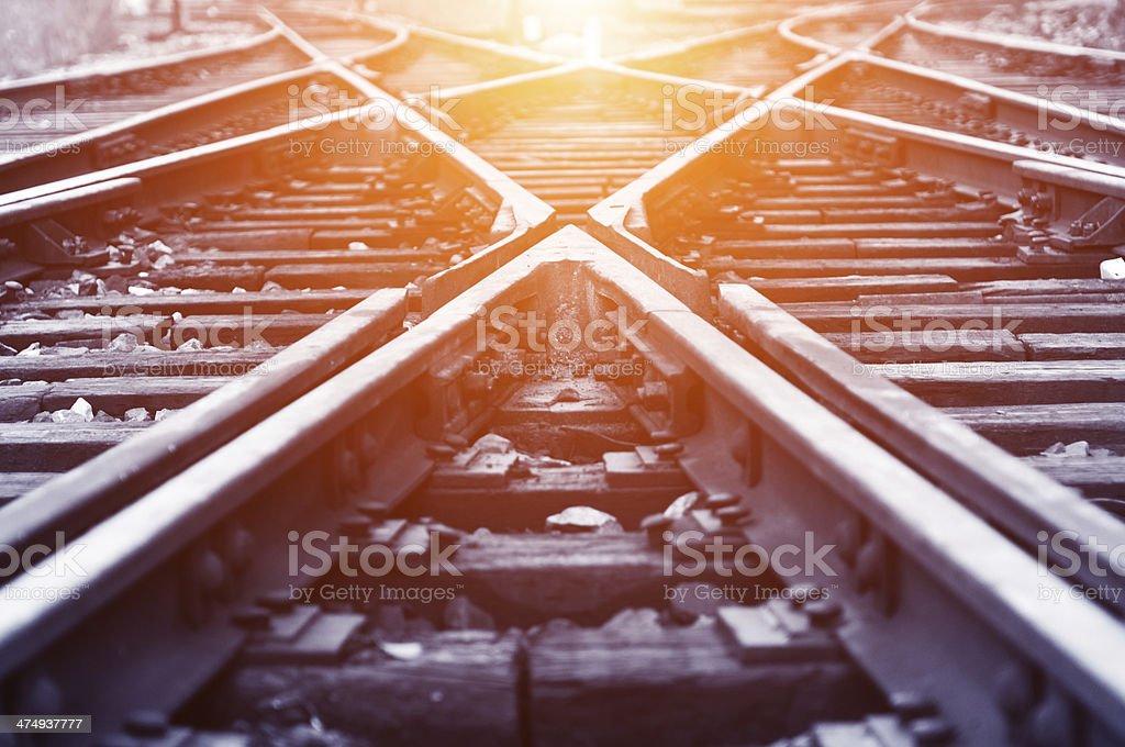 Weg railway - Lizenzfrei Angriffsspieler Stock-Foto