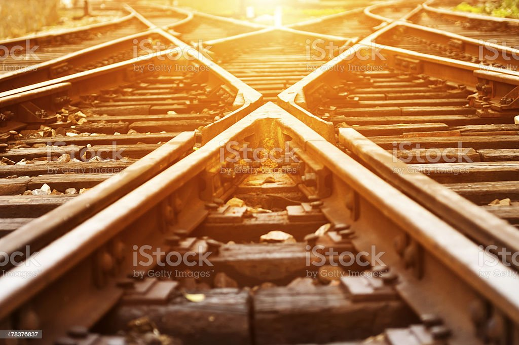way forward railway stock photo