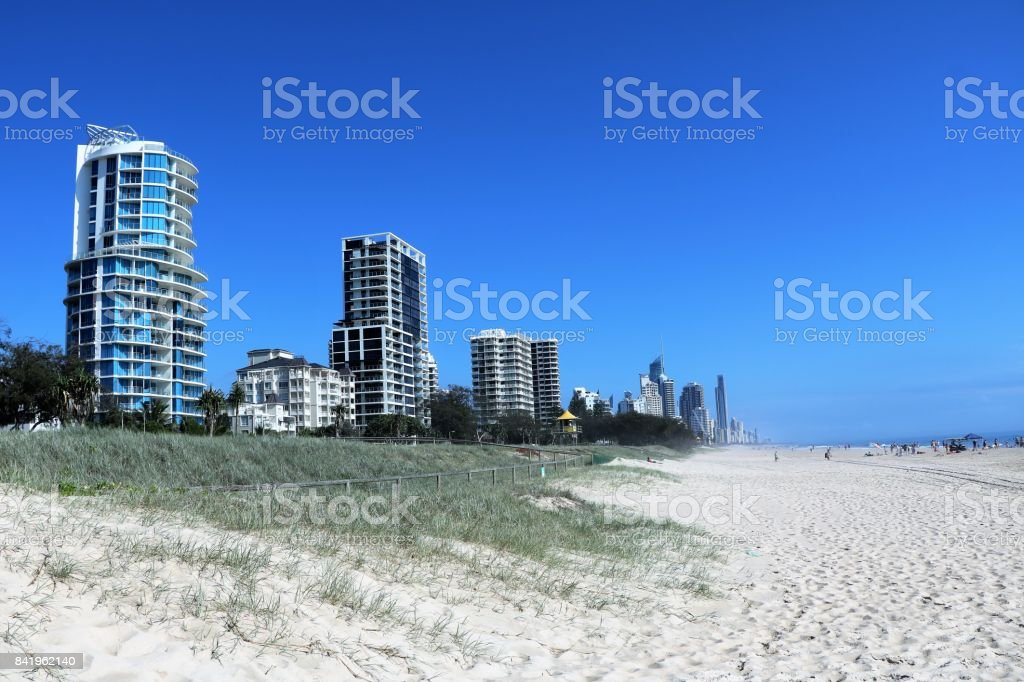 Way from Broadbeach to Surfers paradise Gold Coast in Queensland, Australia stock photo