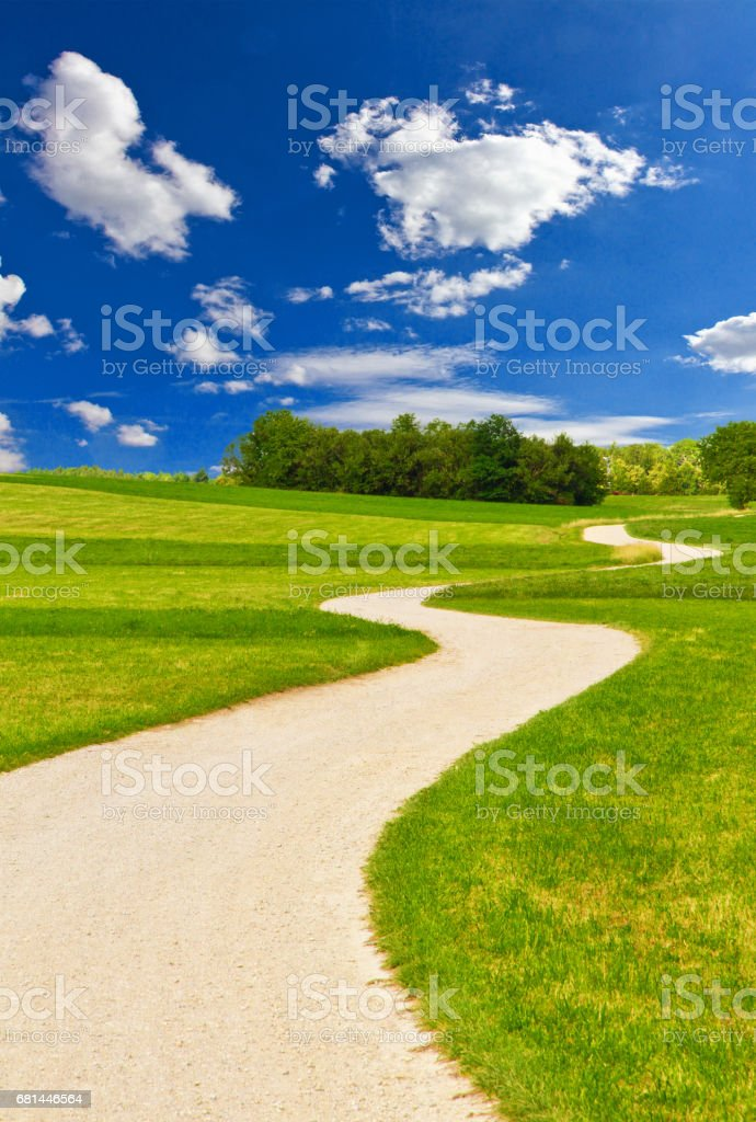Way in the nature royalty-free stock photo