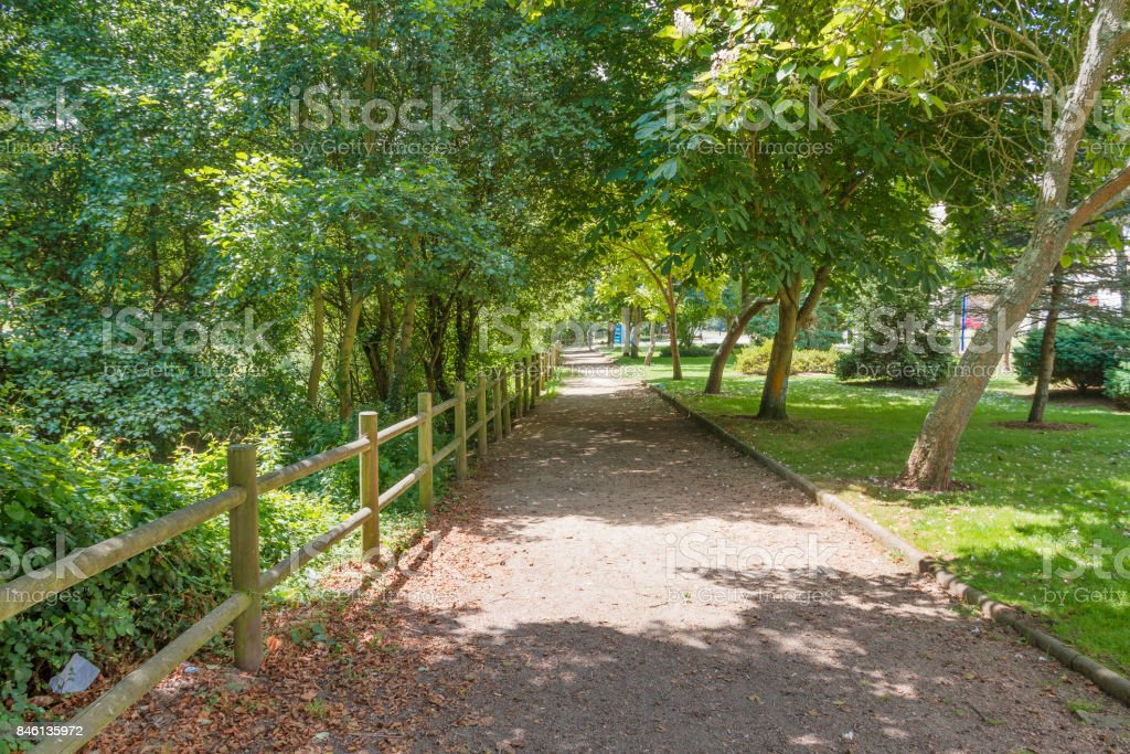 Way in the park royalty-free stock photo