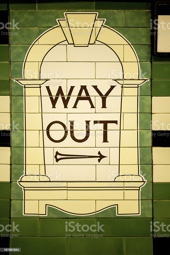 Way Out Sign London Underground royalty-free stock photo