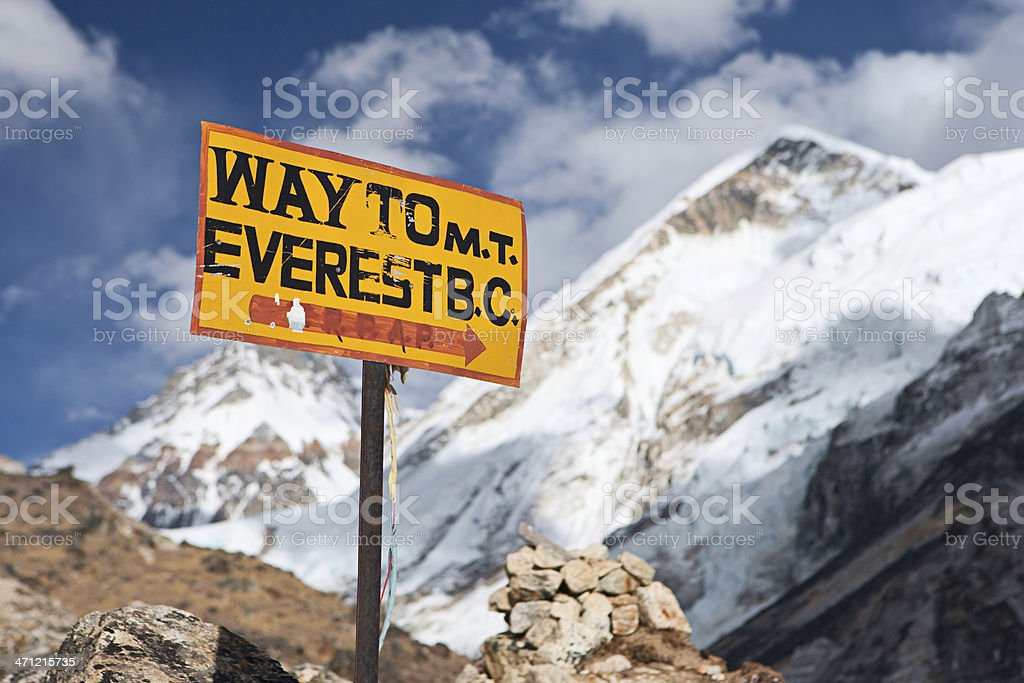 Way to Everest Base Camp royalty-free stock photo