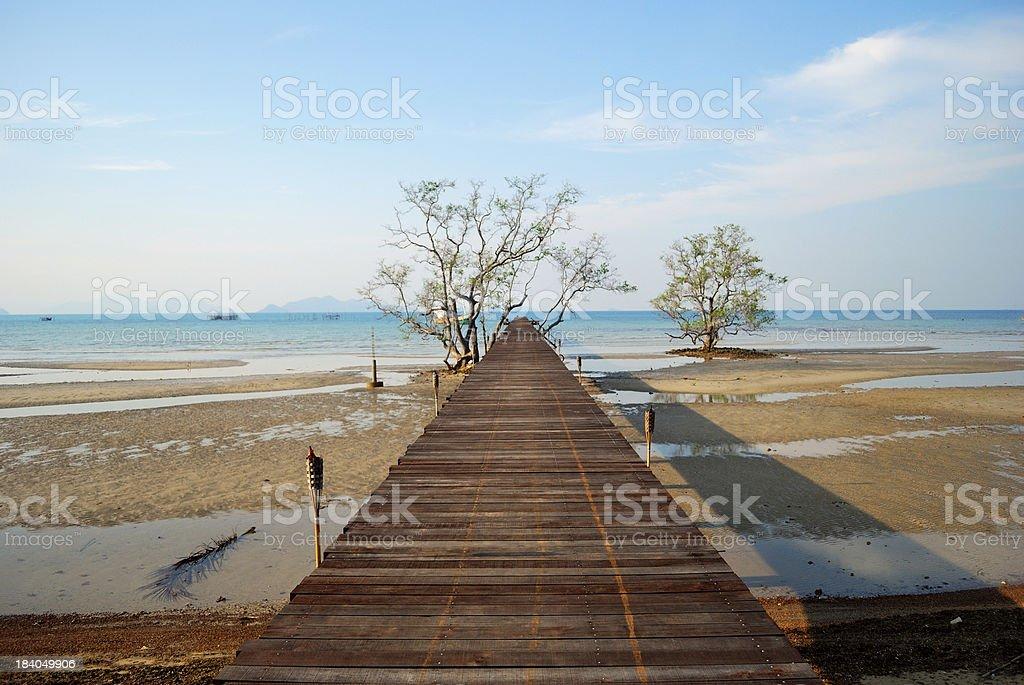 Way to Fishing port at Koh Mak, Trad, Thailand royalty-free stock photo