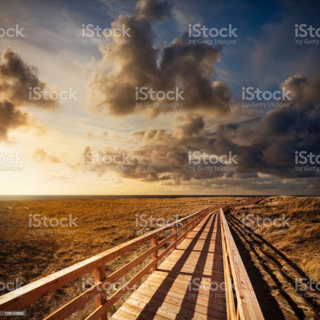 Way to Horizon royalty-free stock photo