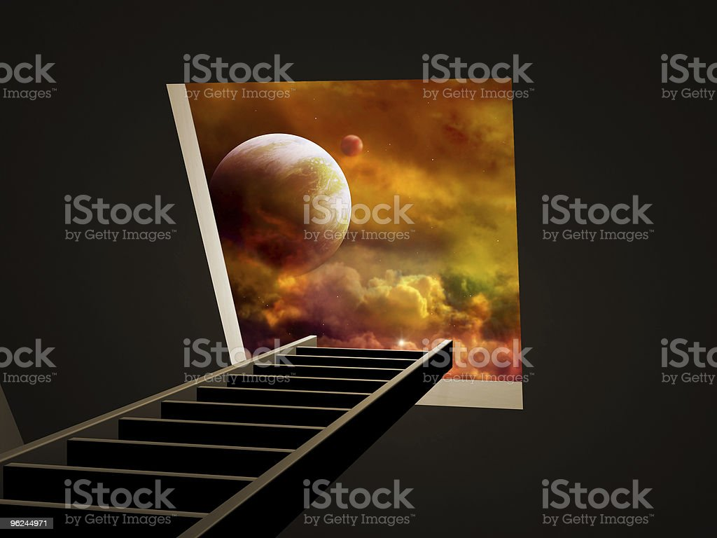 Way to imagination royalty-free stock photo