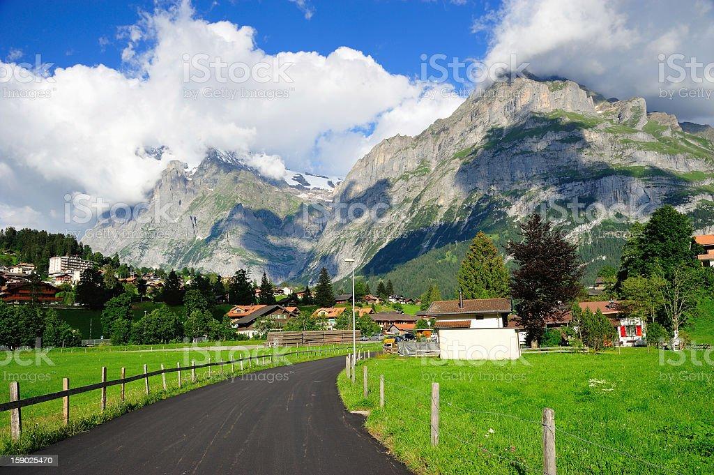 Way to Jungfrau, Berner Oberland, Switzerland royalty-free stock photo