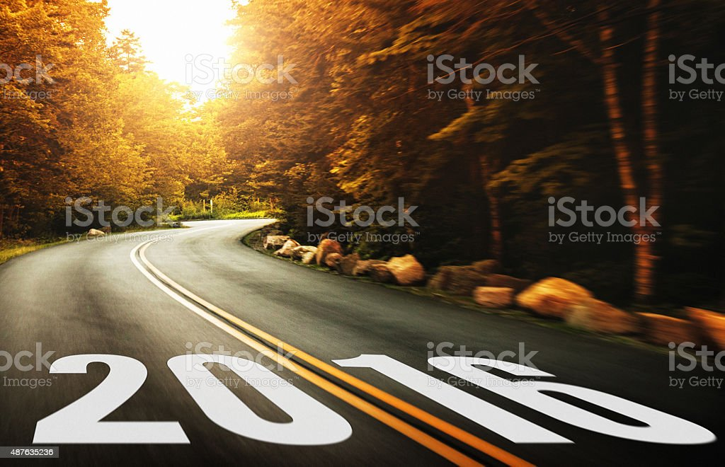 Way to new year 2016 stock photo