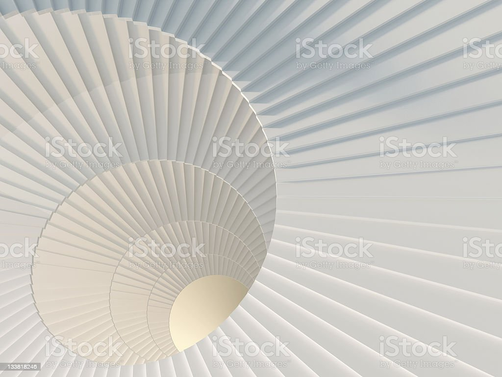 Way to success Fragment of beautiful white spiral staircase Abstract Stock Photo