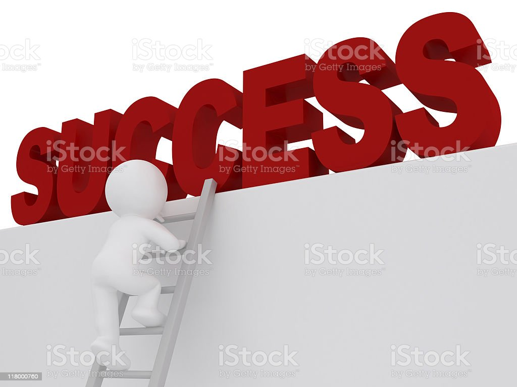 Way to succsess. royalty-free stock photo