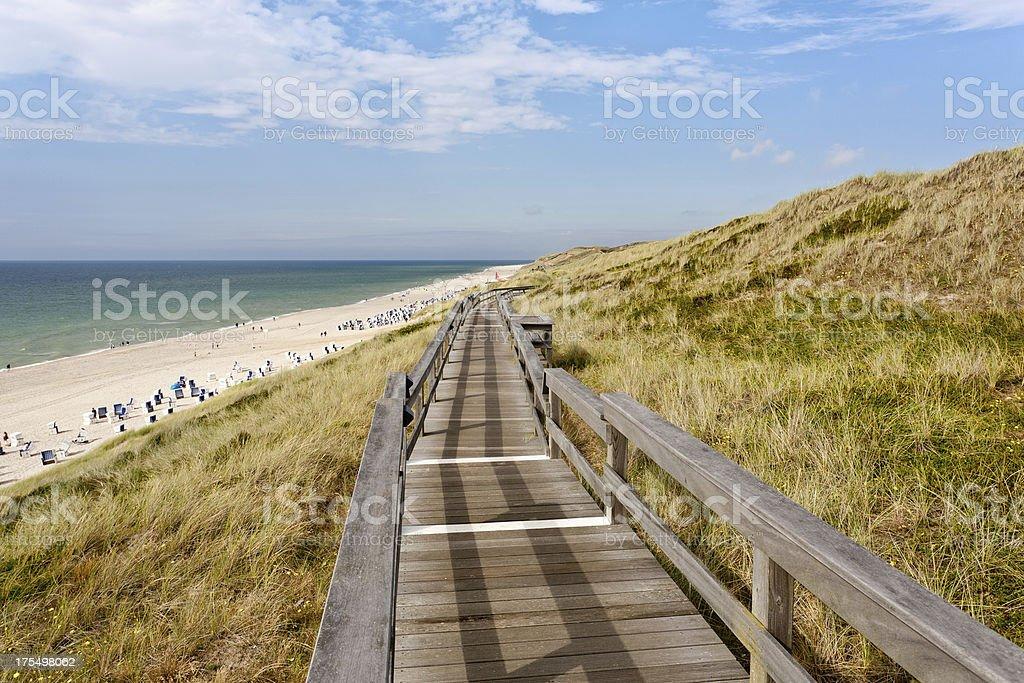 Way to the beach stock photo