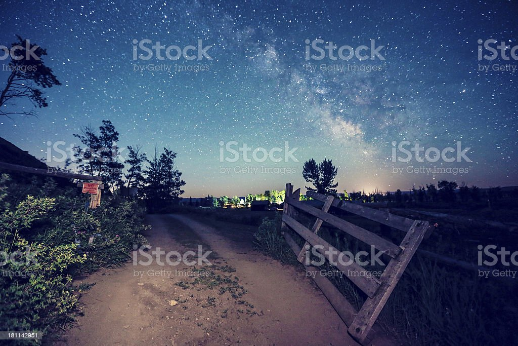 Way to the beauty galaxy royalty-free stock photo