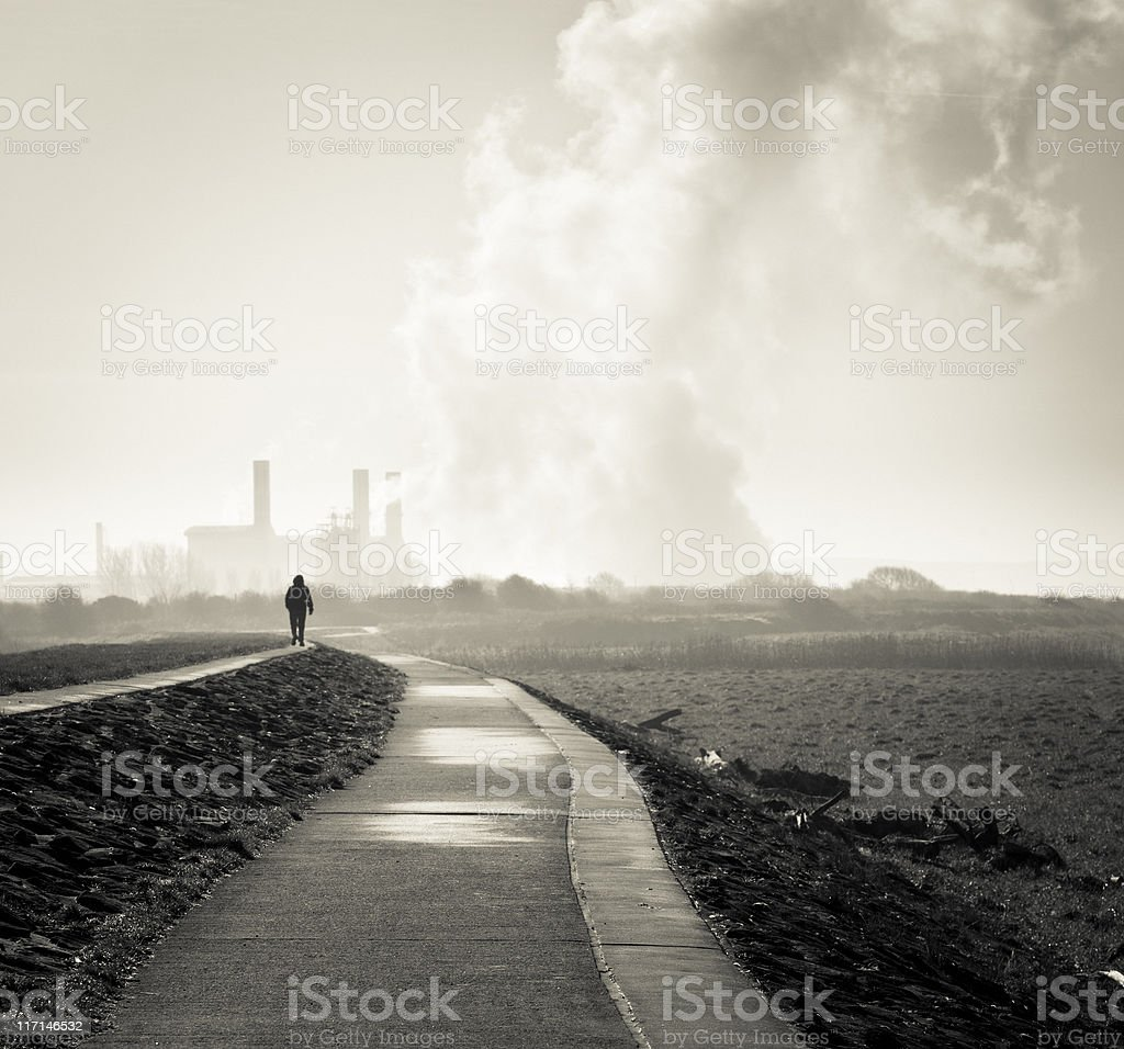 Way to the factory royalty-free stock photo