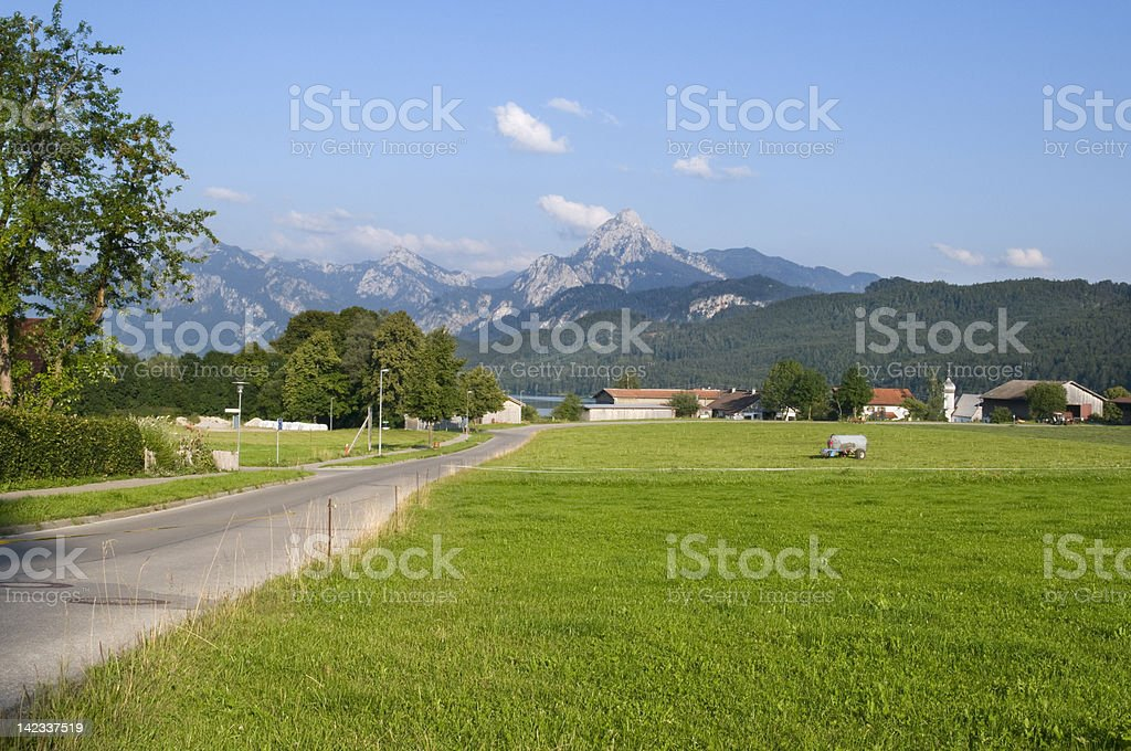 way to the valley weissensee royalty-free stock photo