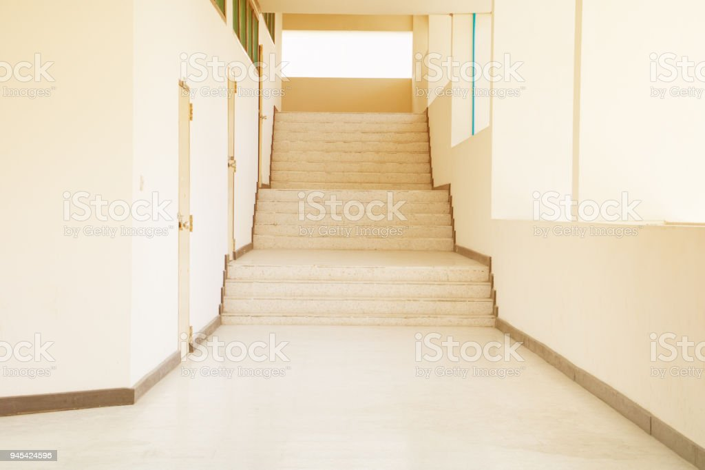 Way Up Stairs Terrazzo Floor With Copy Space Add Text Royalty Free Stock  Photo