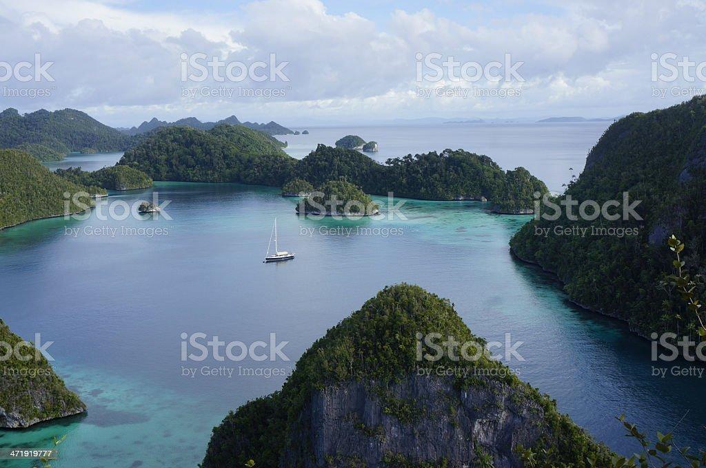 Wayag Raja Ampat stock photo