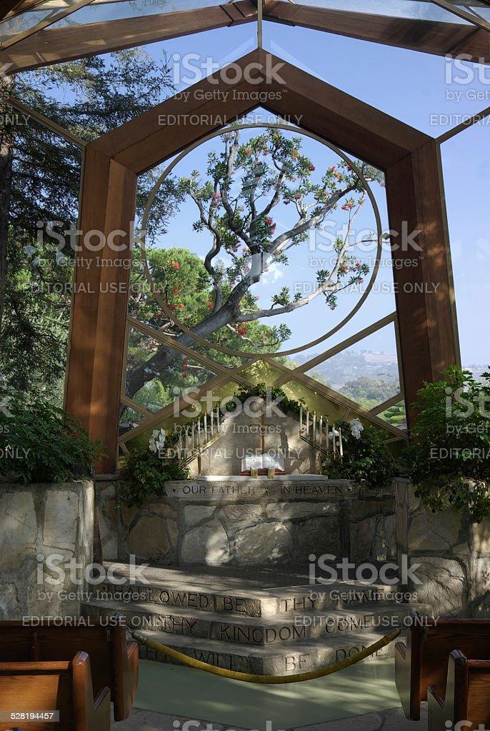 Wayfarers or Glass Chapel stock photo