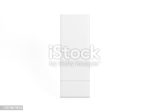 Wayfinding Totem Mockup isolated on white, 3d rendering