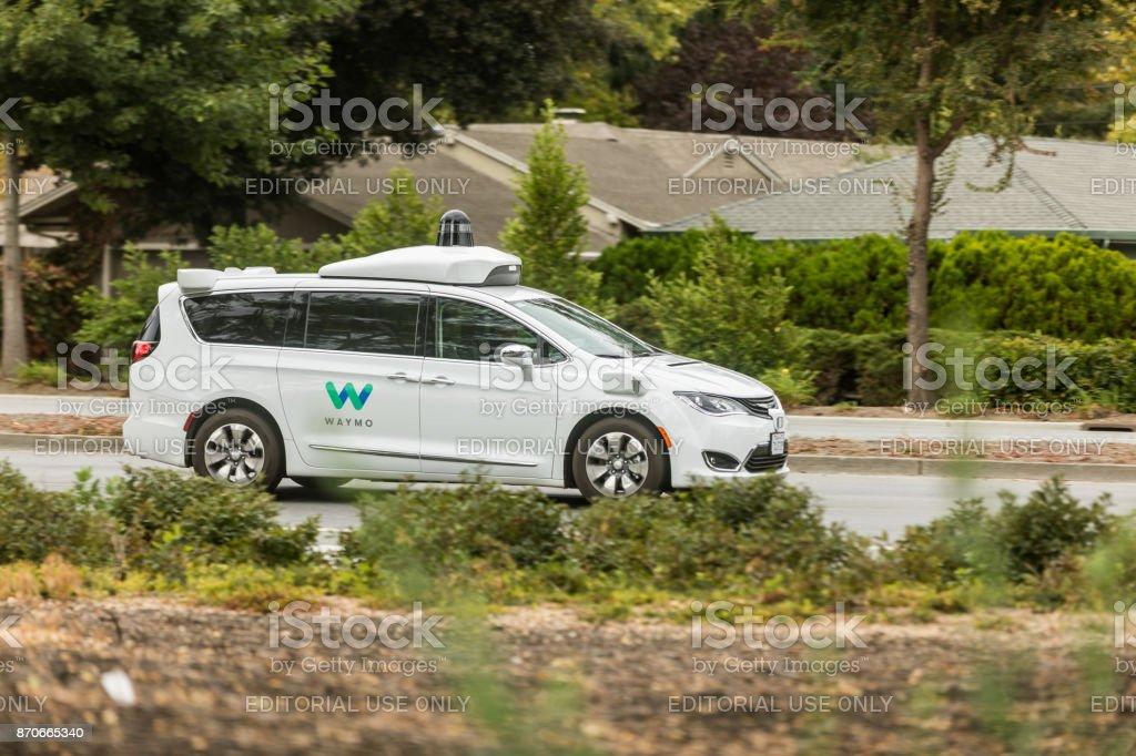 Waymo-Pacifica-Chrysler-Mountain-View stock photo