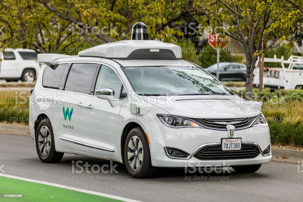 Waymo-Pacifica-Chrysler-Mountain-View stock photo