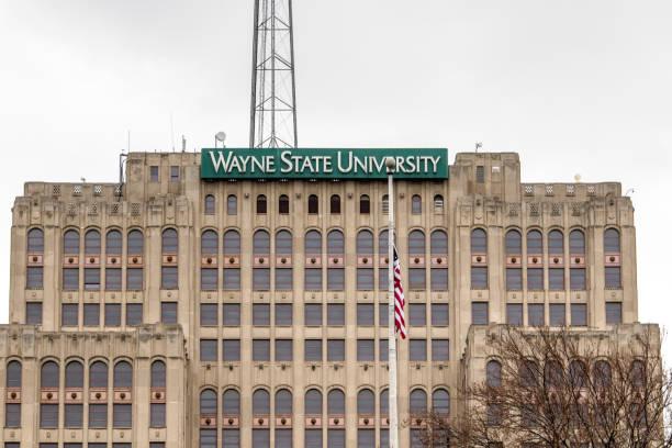 Wayne State University In Detroit Michigan stock photo