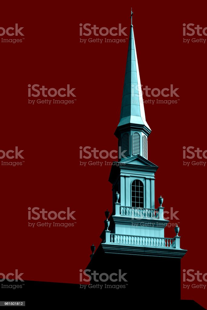 Waynesburg University Spire Study No. 5: Waynesburg, PA stock photo