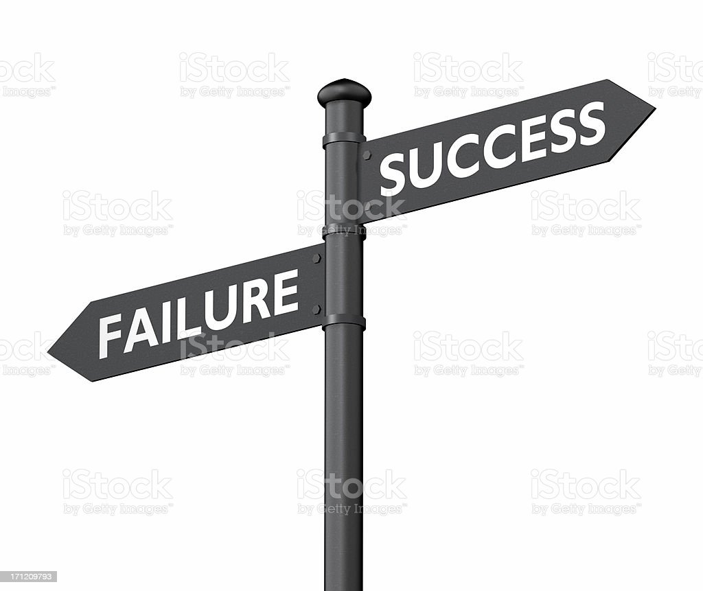 Ways to success or failure royalty-free stock photo