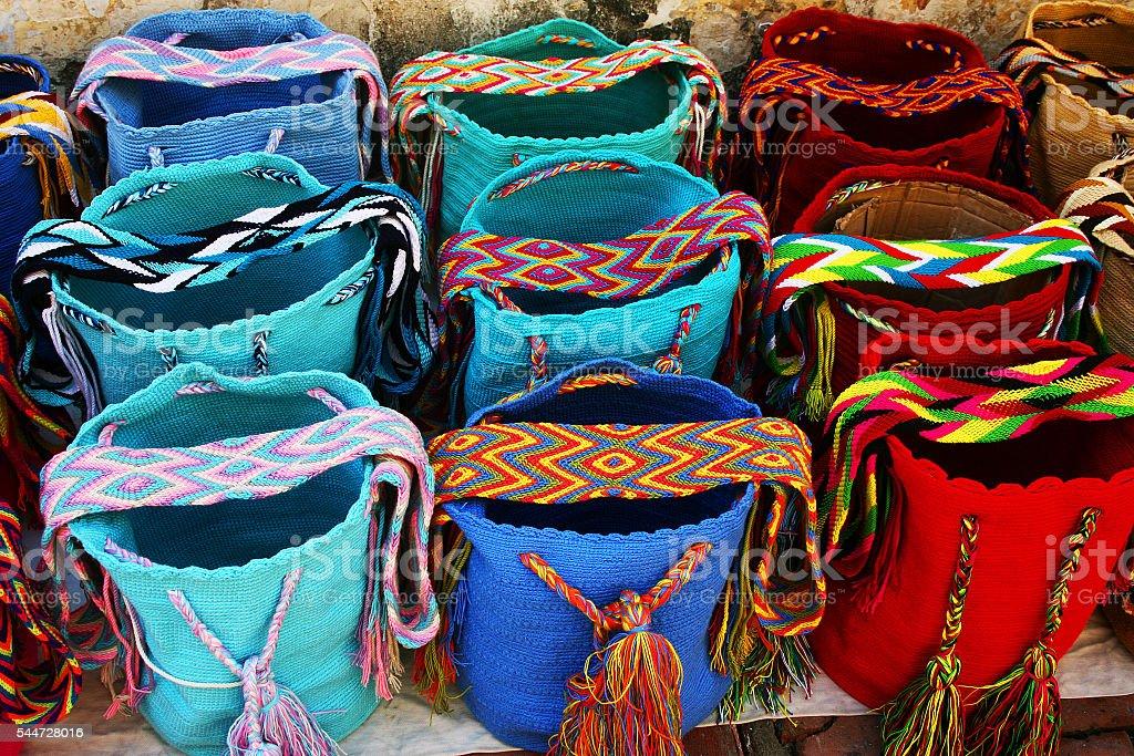 Wayuu Mochila Bags stock photo