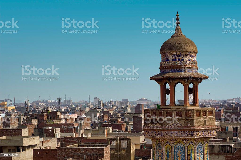 Wazir Khan Mosque stock photo
